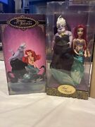 Disney Ariel And Ursula Limited Edition Designer Doll Set--new Low Is 900's