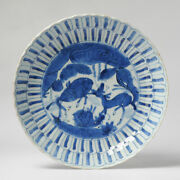 Antique Chinese 16/17th Century Chinese Porcelain Kraak Plate Two Deer