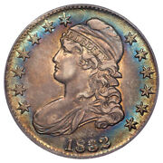 1832 50c O-101a Large Letters Capped Bust Half Dollar Pcgs Au55 Cac
