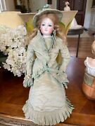 15 1/2 Antique F.g Closed Mouth French Fashion Doll-1880