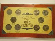 Historic Nickel Collection, 10 Coins-1 Silver, Incl. 1868 Shield, Acrylic Holder