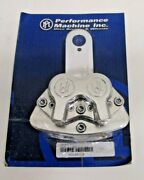 Performance Machine 4-piston Drive-side Pulley Brake System Polished Harley