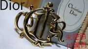 Dior Cdr Logo Rare Brooch Gold Color Homme Unisex Rare Free Shipping From Japan