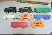 6 Marx O Scale 4 Wheel Freight Cars And 2 Penn Central Tenders Jb