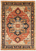 Vintage Geometric Hand-knotted Carpet 9and03911 X 14and0393 Traditional Wool Area Rug