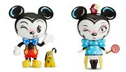 Disney Miss Mindy Vinyl Mickey And Minnie Mouse Figurines Set Of 2 New In Box