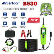 Car Power Probe Auto Battery Circuit Tester Obd2 Electrical System Led 6-30v Dc