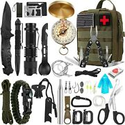 35 In 1 Outdoor Survival Kit First Aid Emergency Gear Camping Hiking Tools