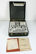 Vtg Hickok Model 750 Dynamic Mutual Conductance Tube Tester W Manual - Works