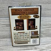 Black Heritage Jumbo Stamp Image Postcards Volumes 1 And 2 With Poster, Sealed