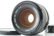 Rare O Top Mint Canon Fd 35mm F/2 Ssc S.s.c. Mf Concave Lens From Japan 1617