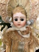 Beautiful French Bisque Mignonette With Swivel Head- Size 1- 1880