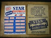 Vintage Star Double Edge Safety Razors Blade's Store Display New Old Stock W/box