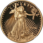 1996-w Gold American Eagle 25 Ngc Pf70 Ultra Cameo Brown Label - Stock