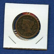 1848 Cent - Us Mint 1c - Penny - Braided Hair Large Cent