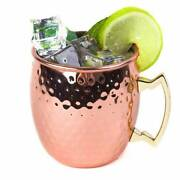 100 Pure Copper Solid Hammered Cups Mug Moscow Mule Cup Beer Mug From India