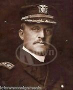 Albert Gleaves Usn Rear Admiral Autograph Signed Wwi Navy Military Photo
