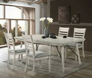 Beautiful Elegant Design Wooden Dining Room Set 5-pc Table Upholstered Chair