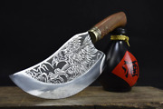 Copper Head Chef Slicing Cleaver Collectible Kitchen Knives Gift Free Shipping