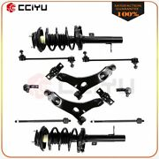 Front Complete Strut + Lower Control Arm For 00-04 Ford Focus Excludes Svt Model