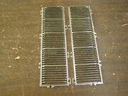 Oem 1940and039s Unknown Grille Pair Re-chromed Oldsmobile Dodge Pontiac Packard Ford