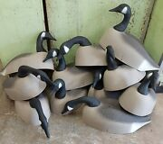 Canadian Goose Hunting Decoy - Paper Maché - Lot Of 11