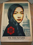 Shepard Fairey Obey Giant We The Future Rise Rewrite The Law Large Format Ed 75