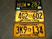 3 Vintage Pennsylvania License Plates 1970and039s 1980and039s