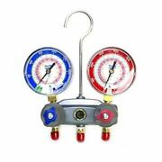 Yellow Jacket 49863 Manifold With Red/blue Gauges Psi Scale R-22/404a/410a Re...