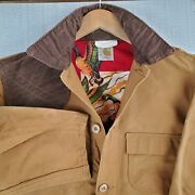 Rare Vtg Size 42 Large Duck Lined Hunting Jacket Game Pouch Bandolier