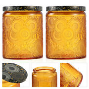 6pcs Glass Candle Tins Aromatherapy Scented Candle Cups Craft Candy Storage Jars