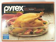 New Vintage Pyrex 704 4 Qt. Oval Baking Dish - New Old Stock,original Box Nos
