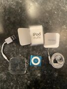 Apple Ipod Shuffle 4th Generation Blue 2gb Great Used Condition Complete Tested