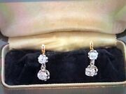 Antique French Diamond Earrings 18k And Platinum
