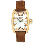 Locman Panorama Gold Mother-of-pearl Dial Quartz Womenand039s Watch Ref 153 29x39mm