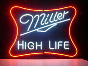 New Miller High Life Real Glass Neon Light Sign Home Beer Bar Pub Sign 17×14