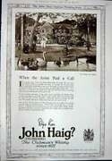 Antique Print Ref.925 1923 Advertisement John Haig Clubmanand039s Scotch Whisky
