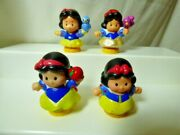Fisher Price Little People Disney Princess Snow White - Lot Of 4 Different