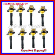8pc Ignition Coil Ebm321y For 00-06 Bmw X5 4.4i Xdrive E53 4.4l