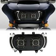 Led Headlight Side Marker Turn Signals Fit For Harley Touring Road Glide 15-19