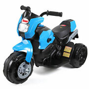 6v Kids Ride On Motorcycle Battery Powered 3 Wheels Bicycle Toy Gift Blue