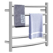 Costway Wall Mount Drying Rack Electric Heated Towel Warmer 304 Stainless Steel