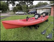 Hobie Mirage Outfitter Tandem Kayak Red With Pedal Fins