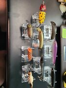 Vintage Wooden Fishing Lures Qty 9