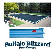 Buffalo Blizzard Rectangle Swimming Pool Winter Covers W/ Water Tubes -10 Yr Wty