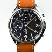 Cwc British Military Assigned 7765 Chronograph Fixed Lugs Circle T Dial Tritium