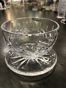 Waterford Cut Crystal Lismore Footed Dessert Bowl, 3 Tall By 4 1/4 Wide