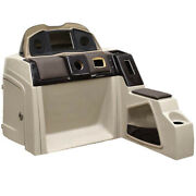Pontoon Boat Steering Console 180695-02   51 1/4 Inch Beige Scratches