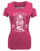 Womenand039s Skull Cutout Back Shoulder Less Tee With Outlaw Marylin Monroe Design