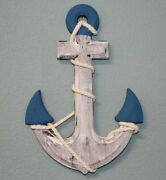 Nautical Man Cave Decor Gift Distressed Style Anchor Plaque Bay Anchor